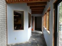 Atrium windows trim removed