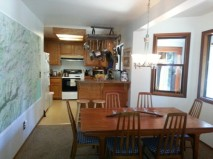 Dining & kitchen before remodel.