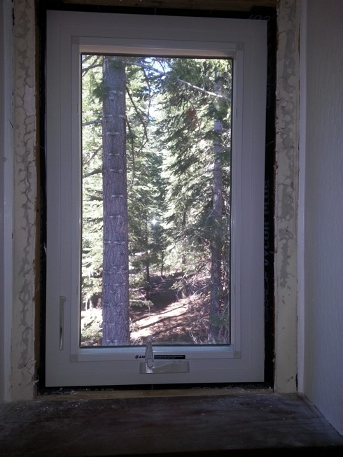 Sample of new windows from the inside with trim to fix.