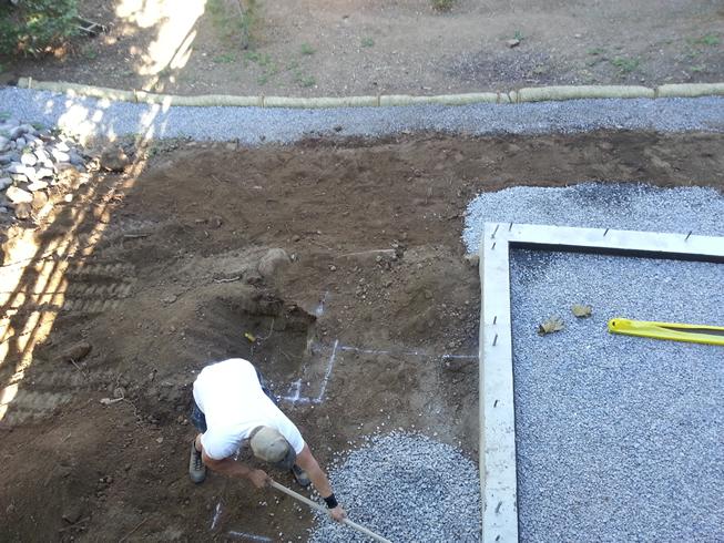Drip line gravel