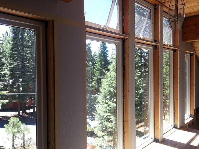 New windows on 3rd floor loft.