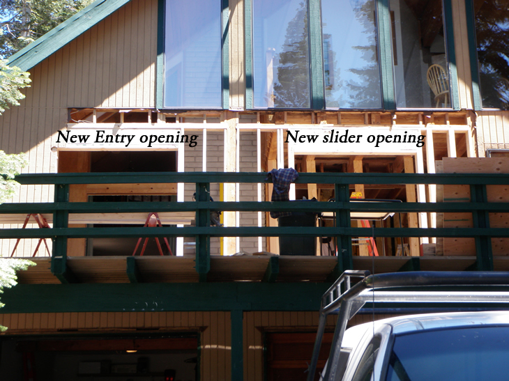 View of new openings from the outside.