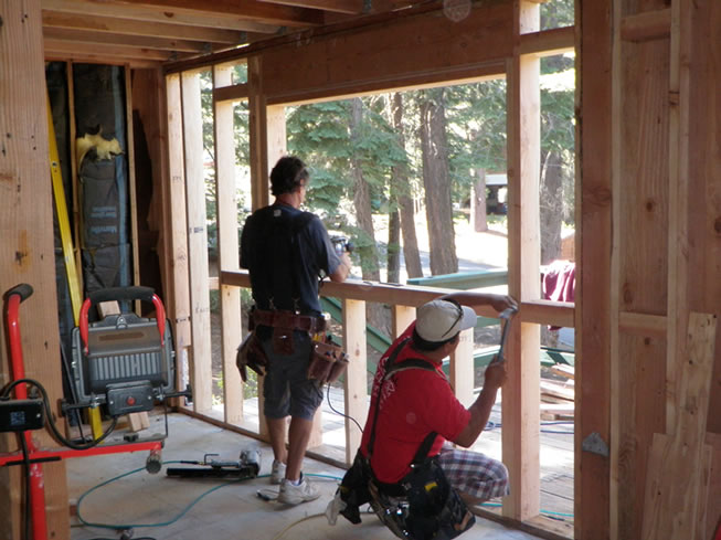 Framing the new kitchen window