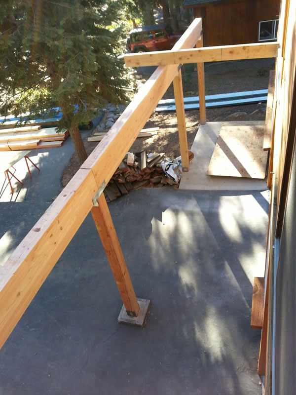 New deck supports.