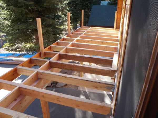 Deck in progress.