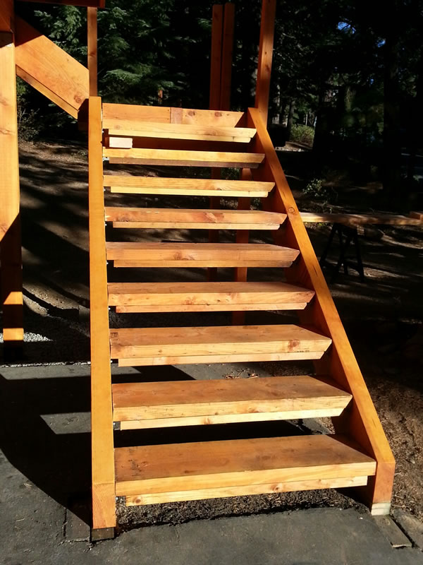 First set of stairs.