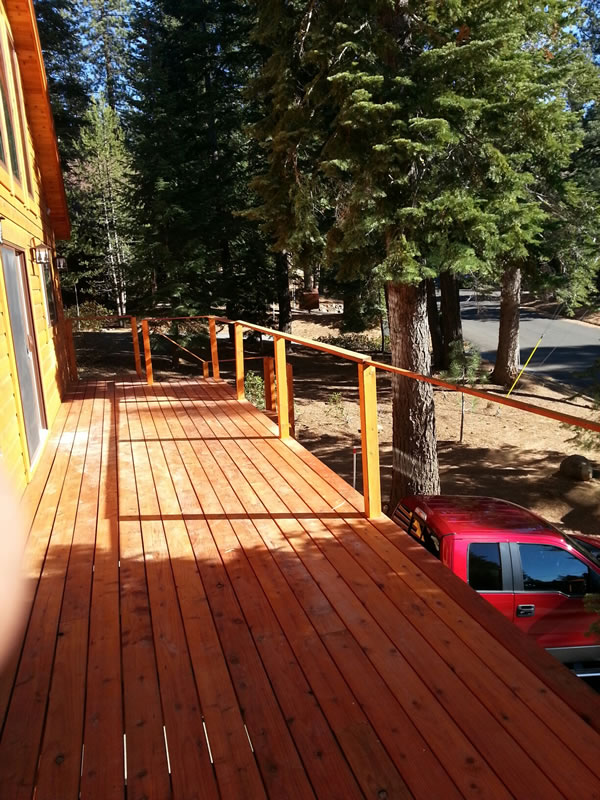 Deck flooring and stairs completed on Oct. 26th.