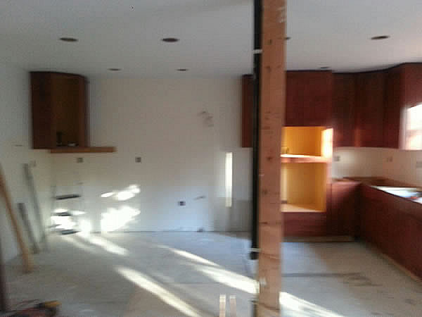 Started the opposite corner cabinets on Oct. 27th.
