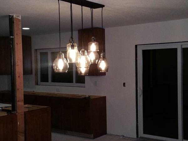New dining room light.