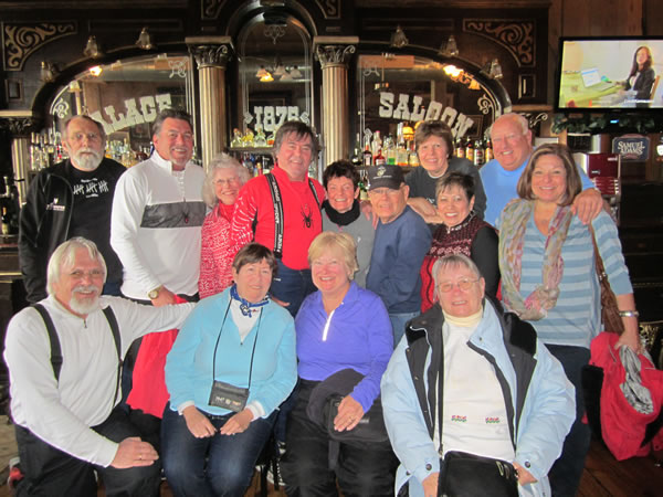 When you can't ski-go to Virginia City, NV in all your ski gear & have fun!