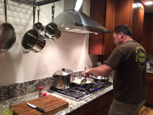 Bob not only builds...he cooks!