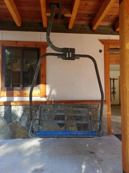 Swinging lift chair, originally from Homewood Ski Resort