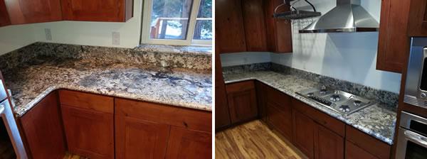 Granite corner detail
