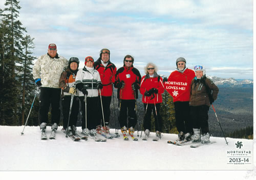 We get together for skiing....
