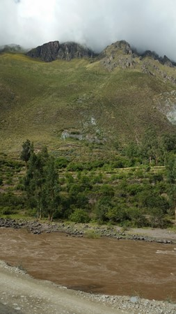 Many Inca ruins could be seen on the mountain sides