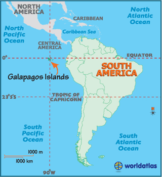 Galapagos Islands off South America