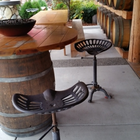 Outdoor patio, in front of the barn