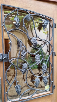 Iron work grape doors
