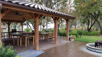 Outdoor kitchen and event area