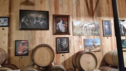 Barrel room art