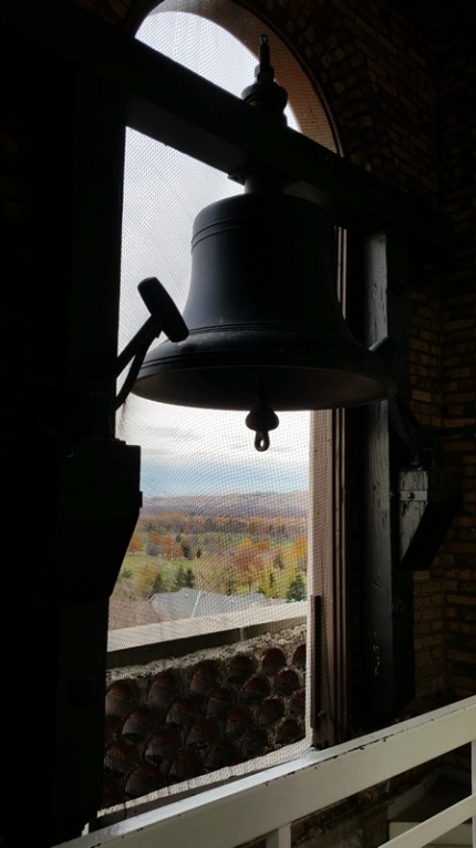 One of the 4 bells in the Bell Tower. Tower has great views of Boise.
