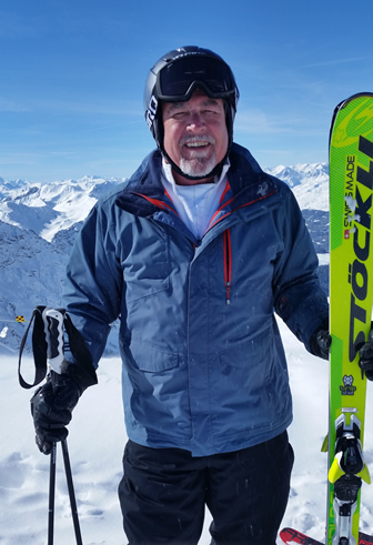 Bob, his new favorite Stockli skis