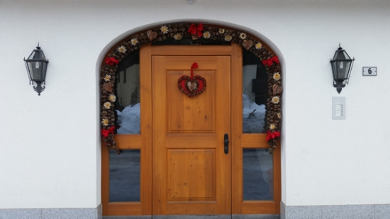 Local home, beautiful door and decoration