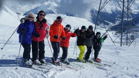 The A Team skiers