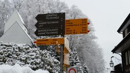 Walking signs around Burgenstock